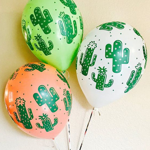 Globo de latex de Cactus (set de 3 colores) (30 cm) (Con helio + $90)