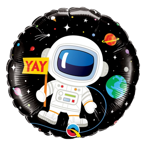 "Globo ""Happy Birthday"" Astronauta (45 cm) (Con helio + $55)"