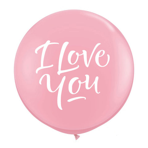"Globo gigante ""I Love You"" decorado (90 cm) (con helio y armado +$240)"