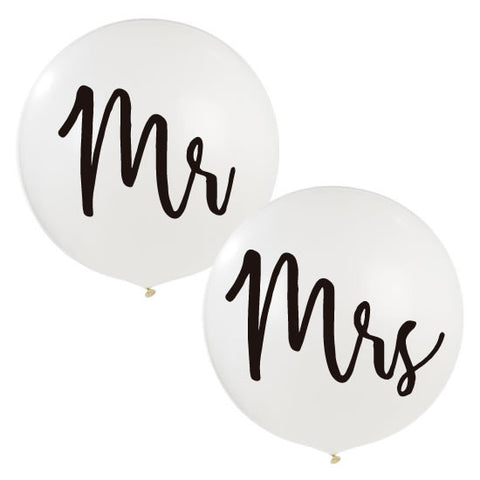 Set de 2 Globos Gigantes Mr & Mrs (90 cm) (con helio +$210)