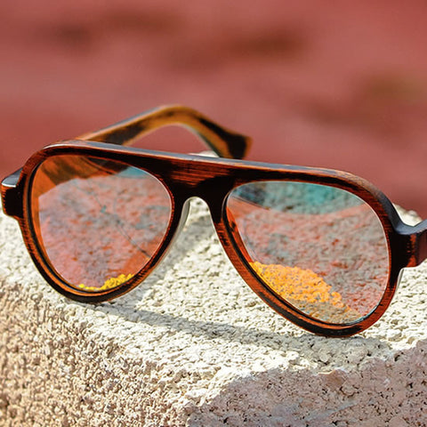 Lentes sol Bamboo RED