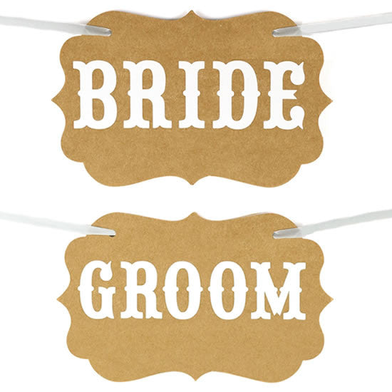 "Letreros ""Bride & Groom"""