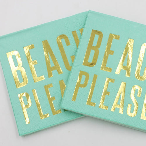 "Servilletas ""Beach please"" para despedida (20 piezas)"