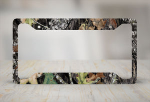 Airstrike® Camo License Plate Frame, Mossy Oak Car Tag Frame, Camo License Plate Holder, Break Up Camo Mossy Oak License Plate Frame-30-8011