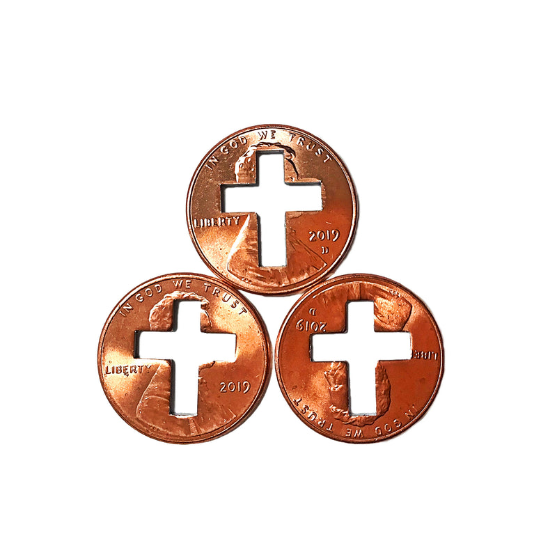 2019 Cross Penny, Cross Pennies, Cross Penny's for Christians