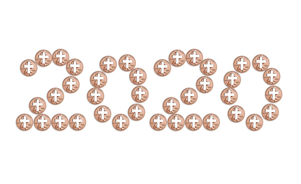 2020 Pennies from Heaven Cross Penny for Christians