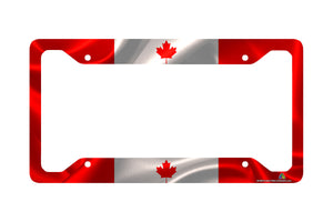 Airstrike® Canadian Flag License Plate Frame, Canada License Plate Holder 30-298
