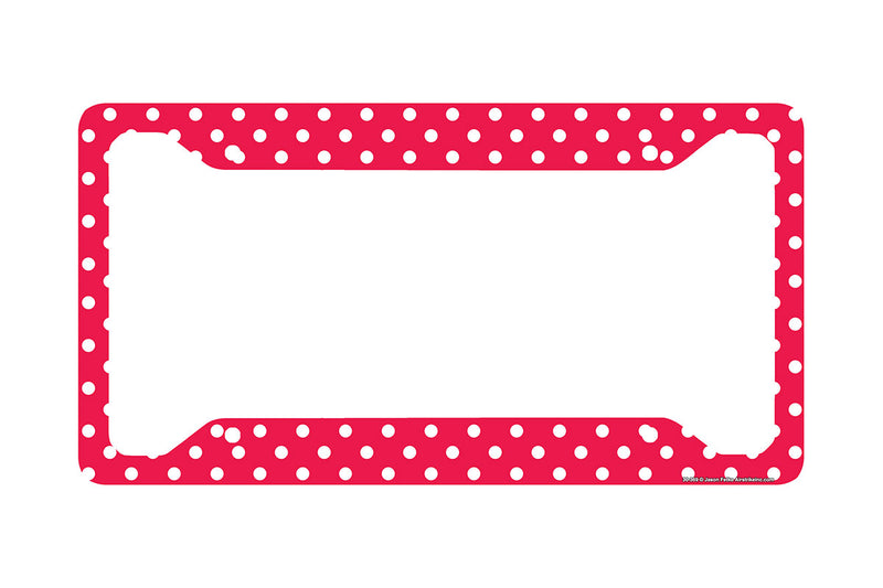 Airstrike® Red Polka Dots License Plate Frame 30-369