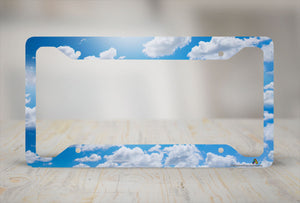 Airstrike® Clouds License Plate Frame 30-739