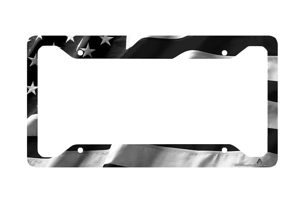 Airstrike® American Flag Black License Plate Frame 30-746