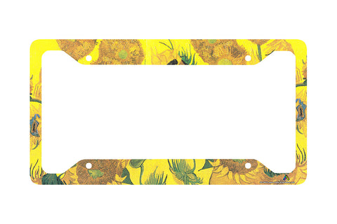 Airstrike® Van Gogh Sunflowers License Plate Frame 30-749