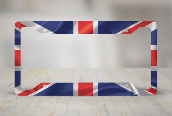 Airstrike® British Flag License Plate Frame, Union Jack Car Tag Frame, England License Plate Holder, British Flag License Plate Frame-30-295