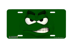 "Airstrike® 568-""Green Smirk""-License Plate"