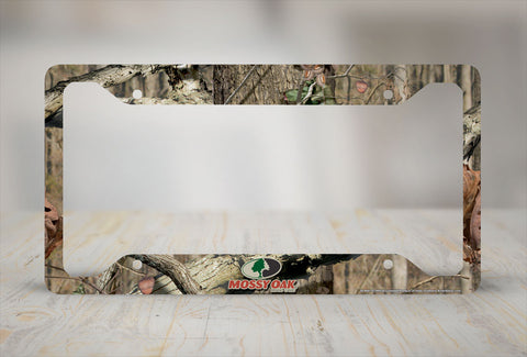 Airstrike® Camo License Plate Frame, Mossy Oak Car Tag Frame, Camo License Plate Holder, Mossy Oak License Plate Frame Break Up Infinity-30-8001