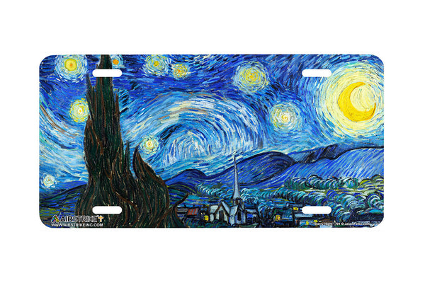 Airstrike® Starry Night License Plate by Vincent Van Gogh
