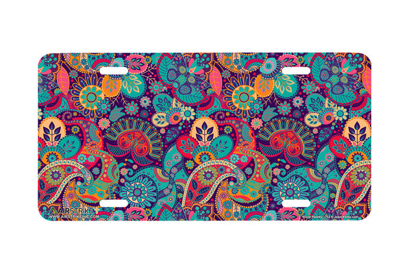 "Airstrike® 753- ""Floral Paisley"" Pattern License Plate"