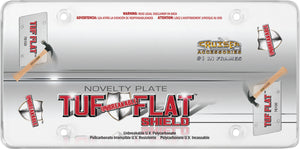 Unbreakable Flat Shield Tuf Clear UV Polycarbonate Protective License Plate Cover