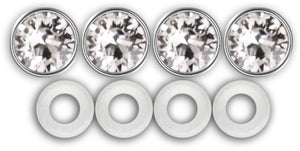 License Plate Screw Covers, Diamond Bling