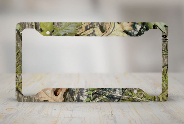 Airstrike® Camo License Plate Frame, Mossy Oak Car Tag Frame, Camo License Plate Holder, Obsession Mossy Oak License Plate Frame-30-8014