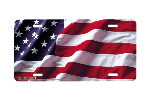 Airstrike® American Flag License Plate-235