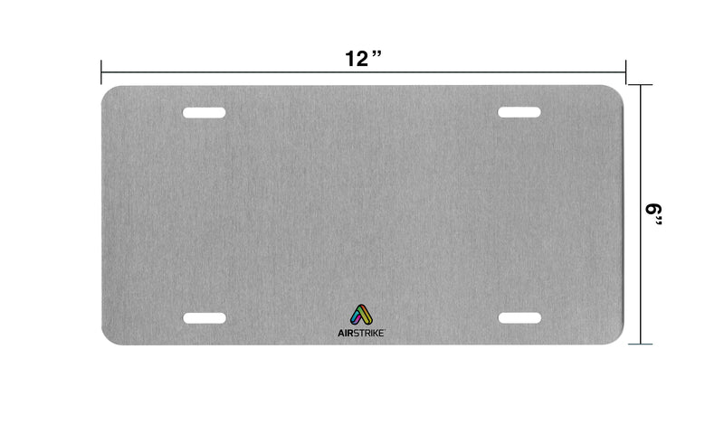 "Airstrike® 3128-""Calm before the Challenge"" License Plate"