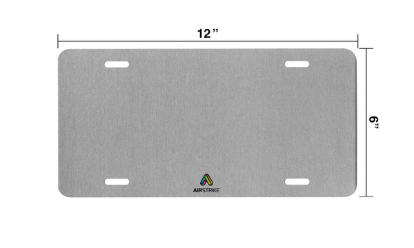 Airstrike® Cross License Plate 7205-