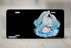 "Airstrike® Dolphin License Plate 3407-""Happy Talk"" Dolphins License Plate"