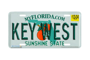 "Airstrike® 594-""Florida State Plate Key West""-License Plate"