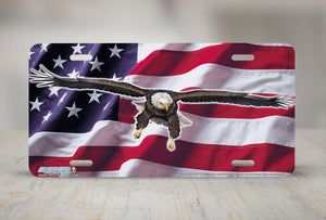 "Airstrike® 8320-""American Icon Flag""-Eagle License Plate"