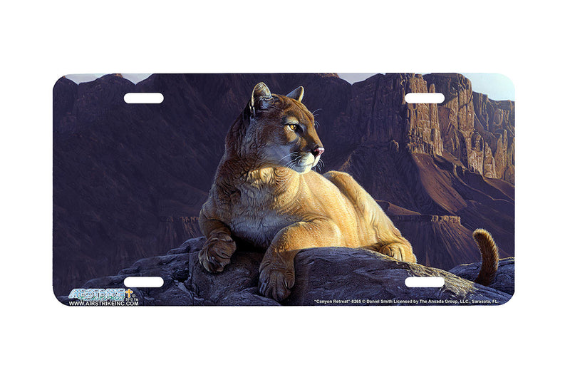 "Airstrike® 8265-""Canyon Retreat""-Cougar License Plate"