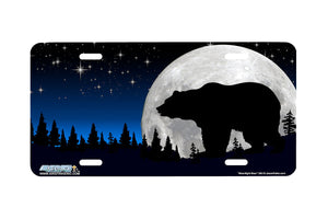 "Airstrike® 384-""Moonlight Bear"" Bear License Plate"