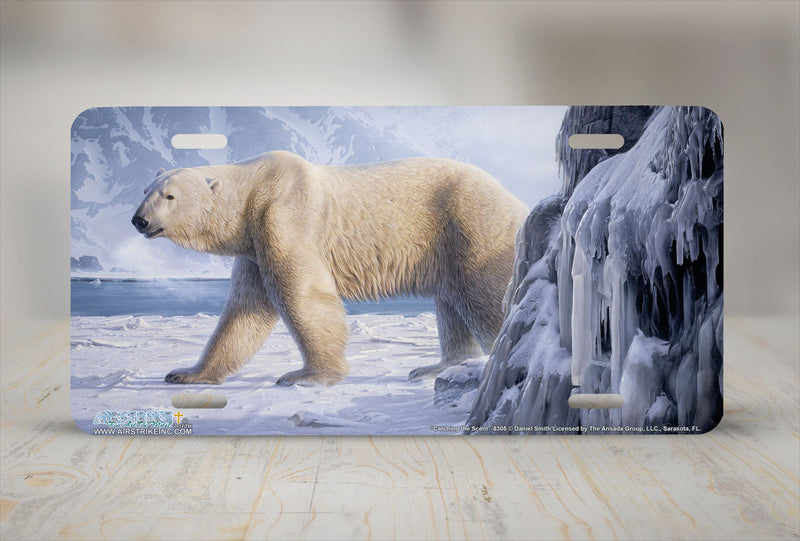 "Airstrike® 8305-""Catching the Scent""-Polar Bear License Plate"