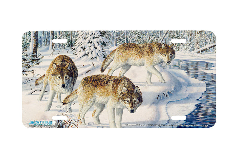 "Airstrike® Wolf License Plate 5253-""Threesome Timberwolves"" License Plate"