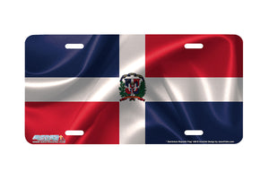 "Airstrike® 309-""Dominican Republic Flag"" Flag License Plates"