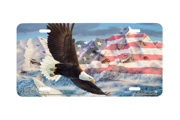 Airstrike® Eagle License Plate American Flag License Plate The Height of Freedom-5371