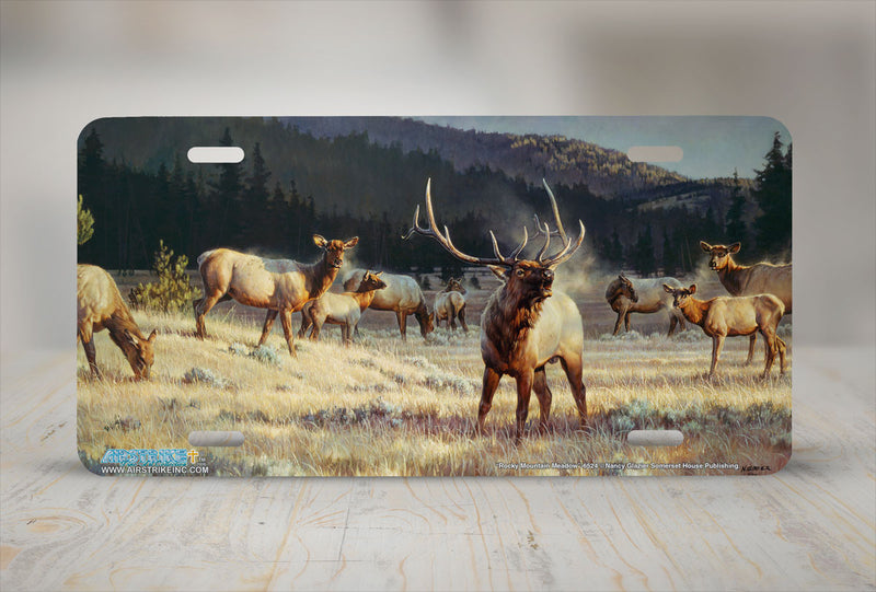 "Airstrike® 6524-""Rocky Mountain Meadow"" Elk License Plates"