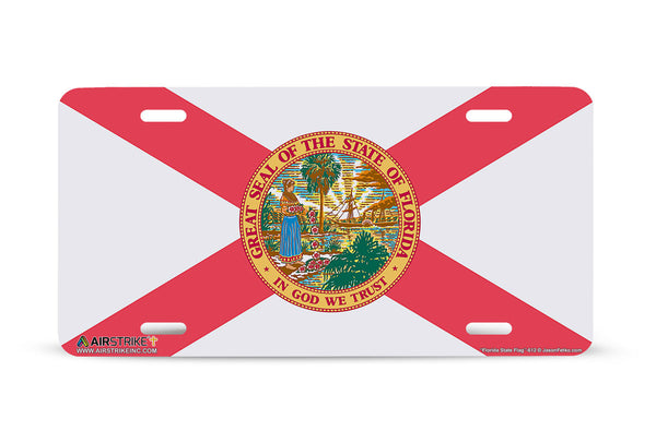 "Airstrike® 612-""Florida State Flag""-License Plate"