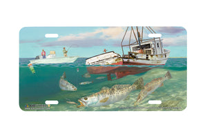 "Airstrike® Fishing License Plates 5287-""Shrimp Wreck"" License Plate"