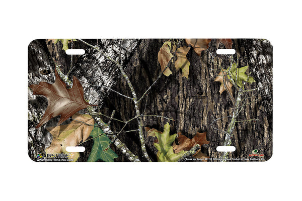 "Airstrike® Mossy Oak License Plate 8011-""Break Up Camo""-Mossy Oak Camo License Plate"