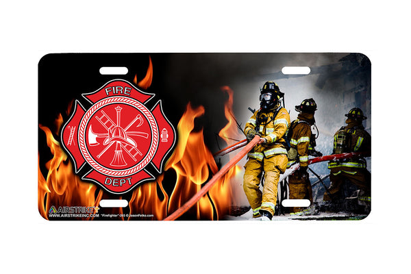 "Airstrike® Firefighter License Plate 265-""Firefighter"" Firefighter License Plates"