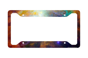 Airstrike® Space Galaxy License Plate Frame, Stars Car Tag Frame, Universe License Plate Holder, Outer Space Nebula Cute License Plate Frame-30-712