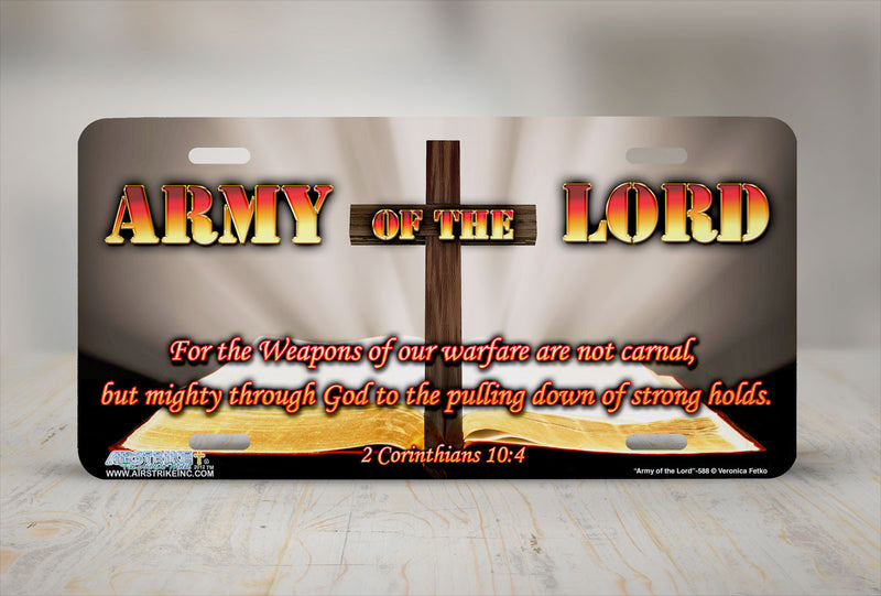 "Airstrike® Christian License Plate 588-""Army of the Lord"" Christian License Plate"
