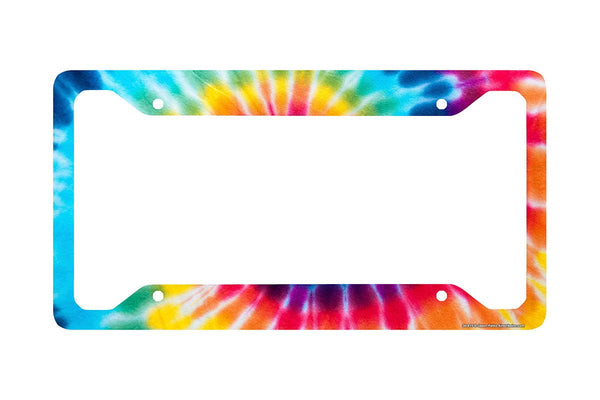 Airstrike® Tie Dye License Plate Frame, Tie Dye License Plate Holder, Tie Dye Frame-30-615