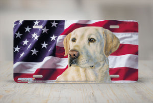 "Airstrike® 5396-""American Yellow Lab"" Dog License Plate"