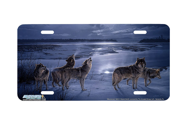"Airstrike® Wolf License Plate 8233-""Moonsong""- Wolves License Plate"