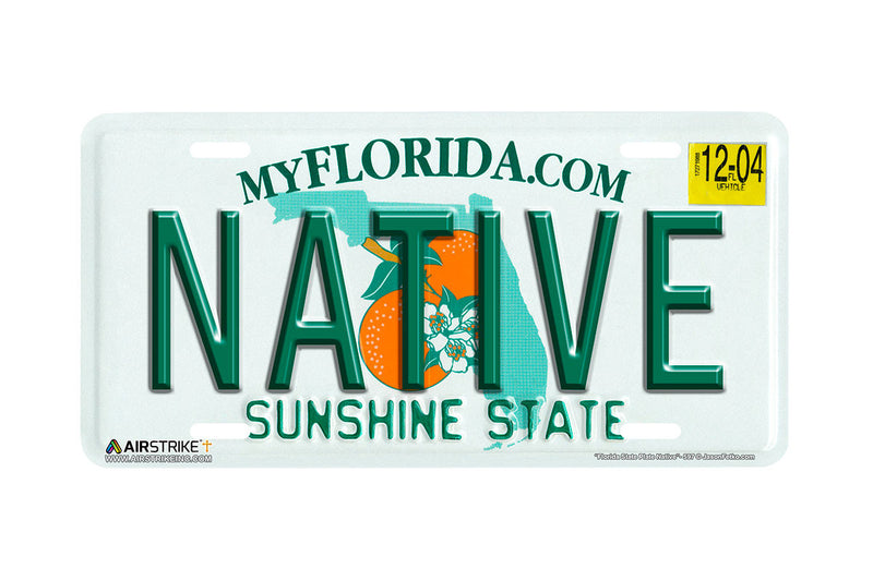 "Airstrike® 597-""Florida State Plate Native""-License Plate"