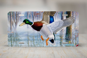 "Airstrike® 5369-""Timber Mallards"" License Plate"