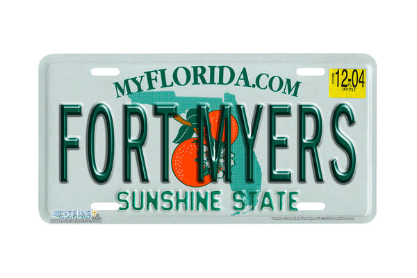 "Airstrike® 613-""Florida State Plate Fort Myers""-License Plate"