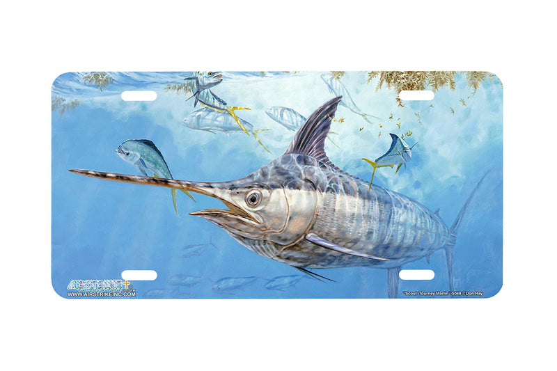 "Airstrike® Fishing License Plates 5048-""Scout Tourney Marlin"" Marlin License Plate"