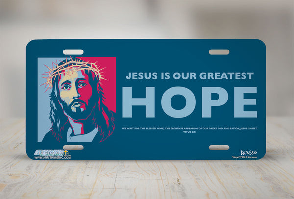 Airstrike® Christian License Plate 7216-